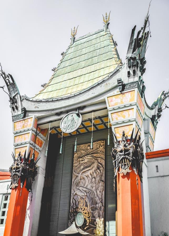 Grauman& x27;s Chinese Theater on Hollywood Boulevard. California royalty free stock photos