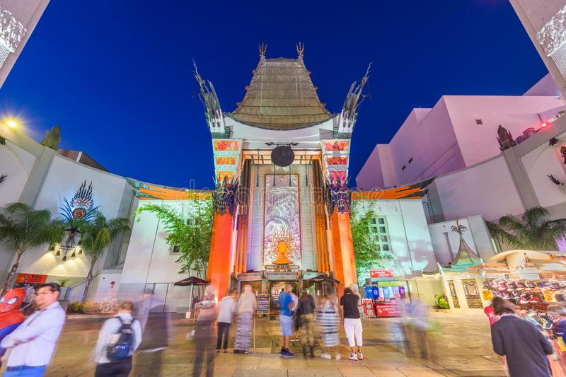 Grauman`s Chinese Theater on Hollywood Boulevard stock image