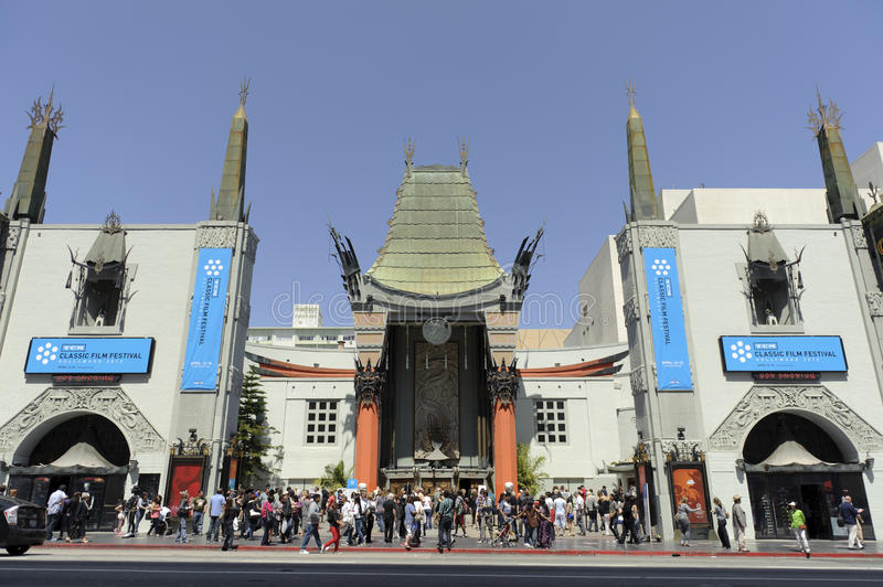 Download Graumans Chinese Theater editorial stock image. Image of boulevard - 24498654