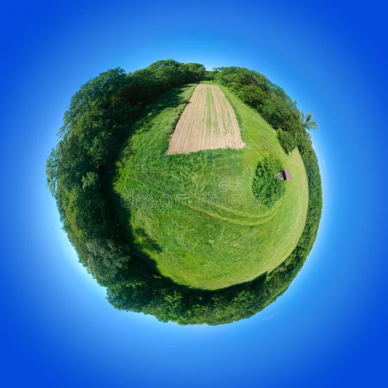 360 graus de sul rural Alemanha do prado do panorama esférico imagem de stock