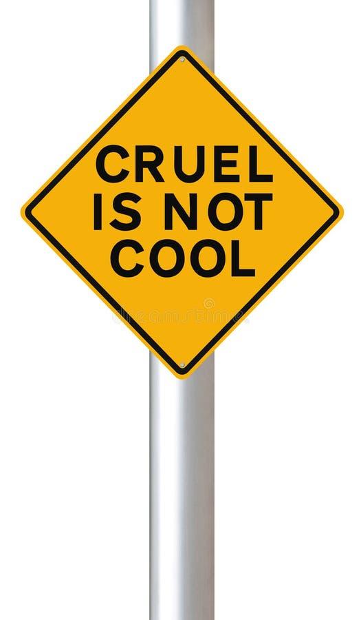 Grausam ist nicht kühl stock abbildung