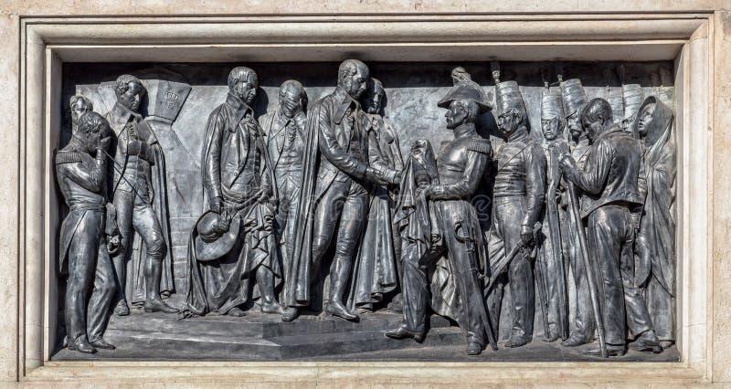 Gravé en monument de Pedro IV photo libre de droits