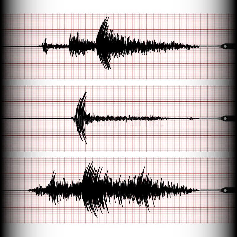 Gravação do Seismogram ilustração stock