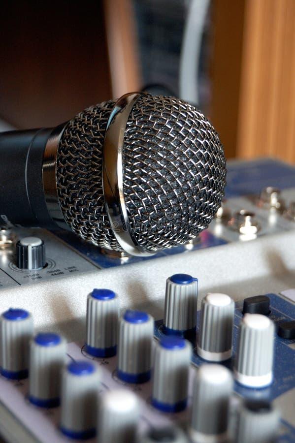 Gravação do som e da voz fotografia de stock
