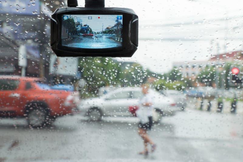 Gravador de vídeo do carro imagem de stock