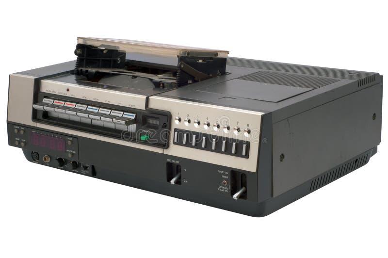 Gravador de vídeo retro imagem de stock