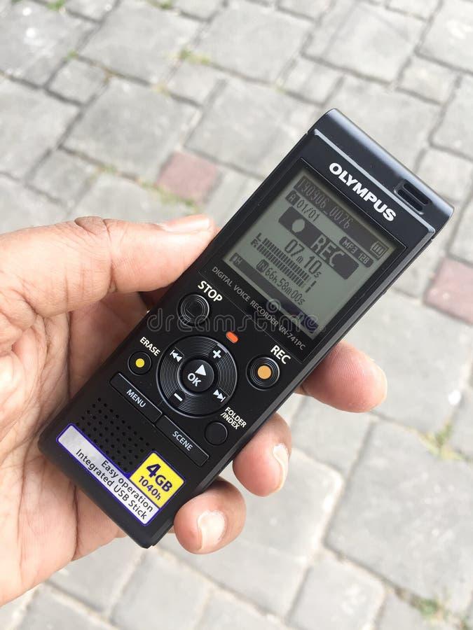 Gravador de voz imagem de stock