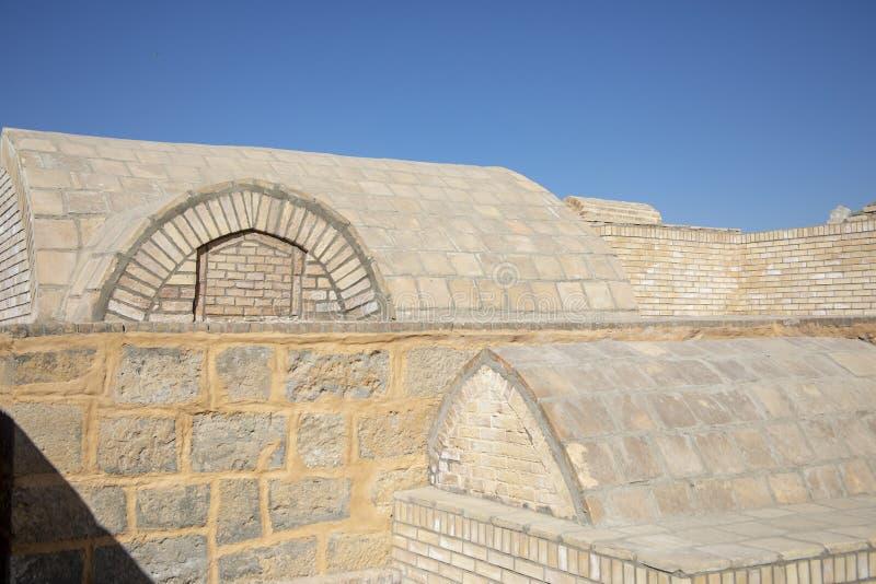 Gravar på mausoleet av Bahouddin Nakshband, Bukhara, Uzbekis arkivbild