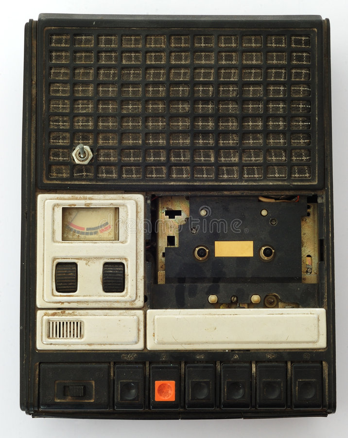 Gravar-registrador velho. foto de stock