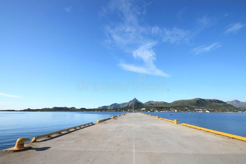 Gravdal in Lofoten's pier stock images