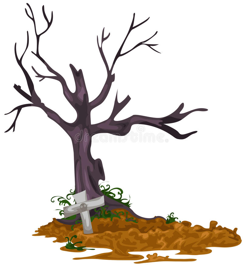 Download Grave stock vector. Image of devil, scary, design, cemetery - 21772412