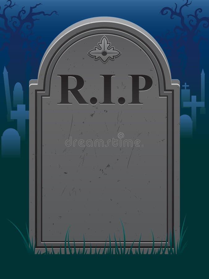 Grave Background stock illustration