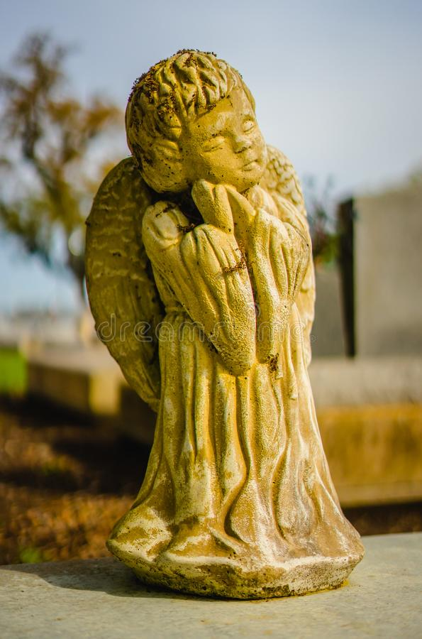 A grave decoration or grave statue royalty free stock image