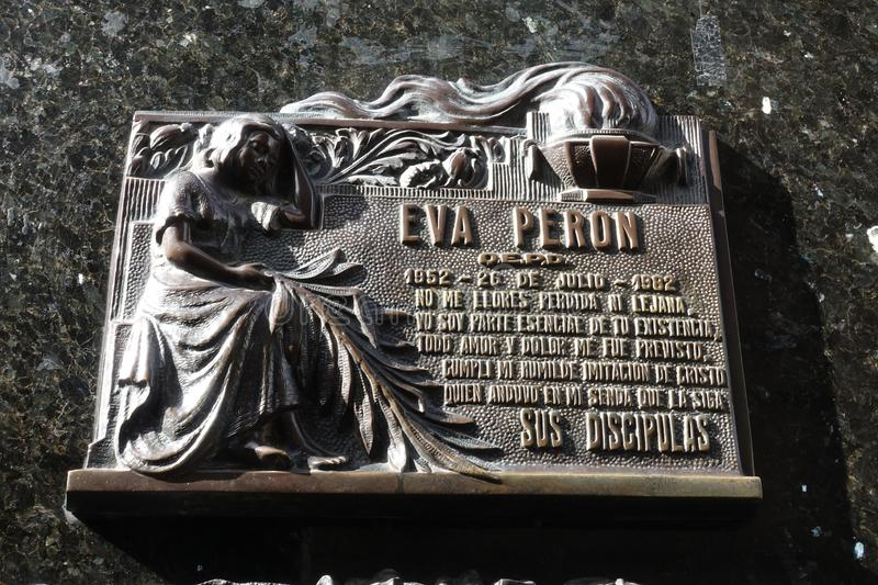 The Grave of Eva Peron royalty free stock image