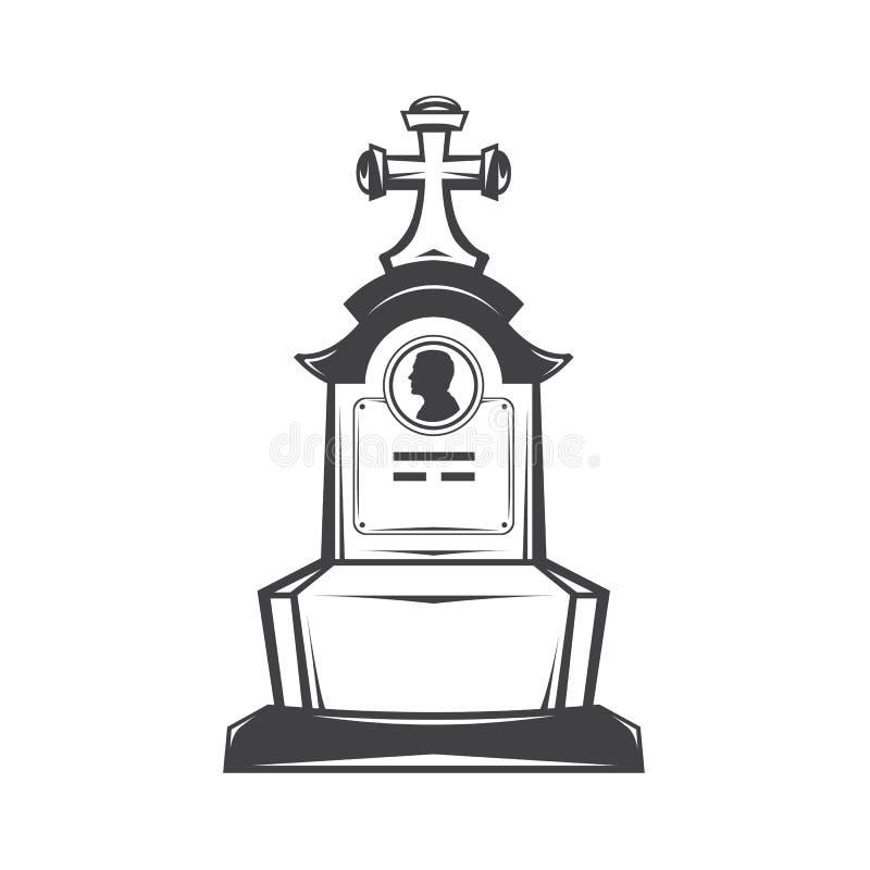 grave gravestone monument stock illustration
