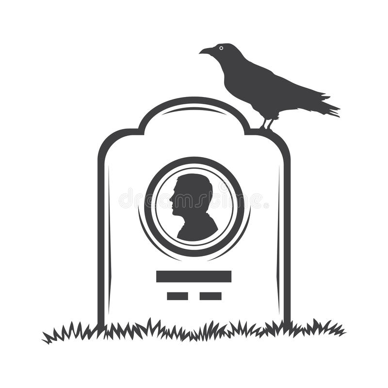 grave gravestone monument royalty free illustration