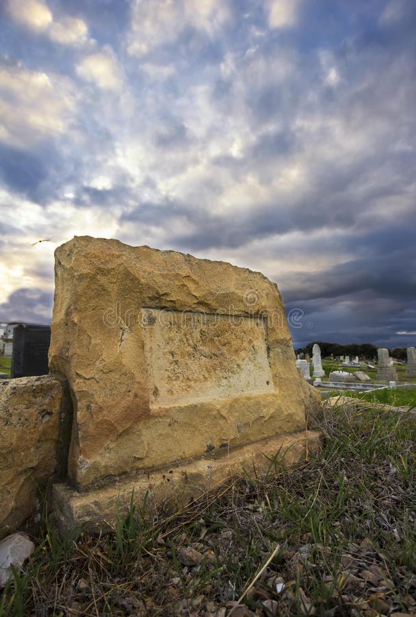 Download Grave Headstone Without Name Stock Photo - Image: 25063238