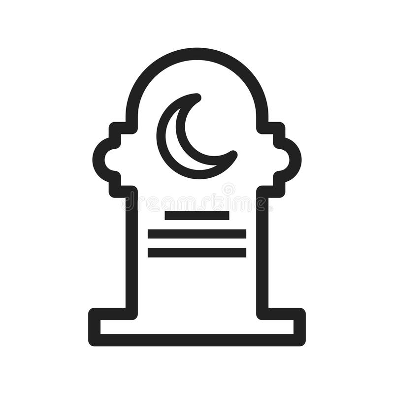 Grave III. Grave, death, funeral icon vector image. Can also be used for funeral. Suitable for mobile apps, web apps and print media stock illustration