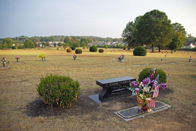 Grave of Johnny Cash stock image