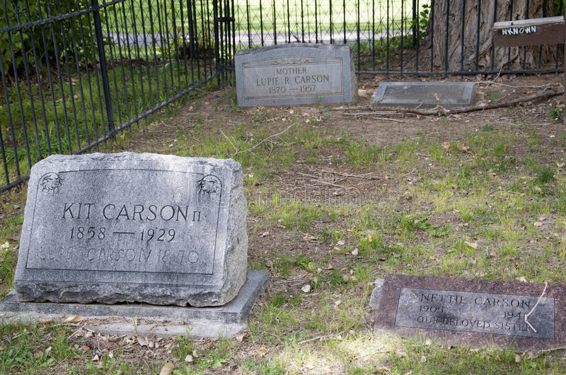 Grave of Kit Carson in Taos New Mexico USA stock photo