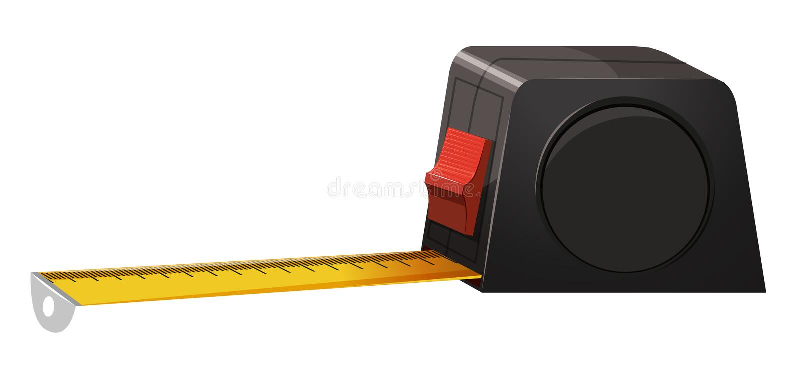 Grave a medição com fechamento ilustração do vetor