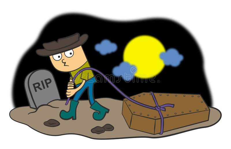 Download Grave robber stock illustration. Illustration of grave - 26614656