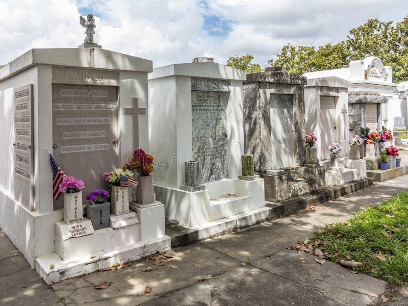 Grave site at the Saint Louis La Fayette Cemetery No 1 stock photography
