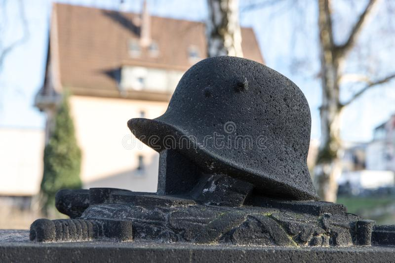 Grave statue of an soldier stock photos