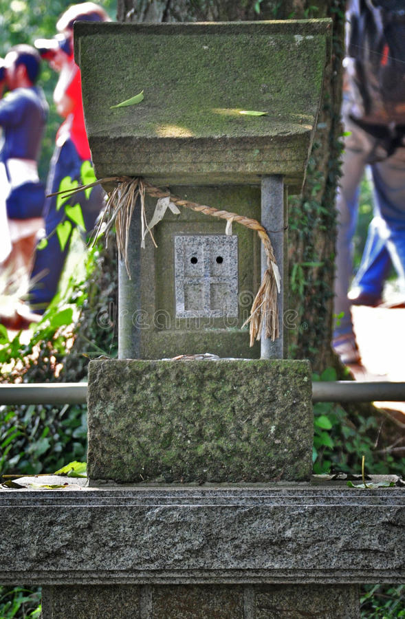 Grave stone. Ancient traditional japanese grave stone royalty free stock images