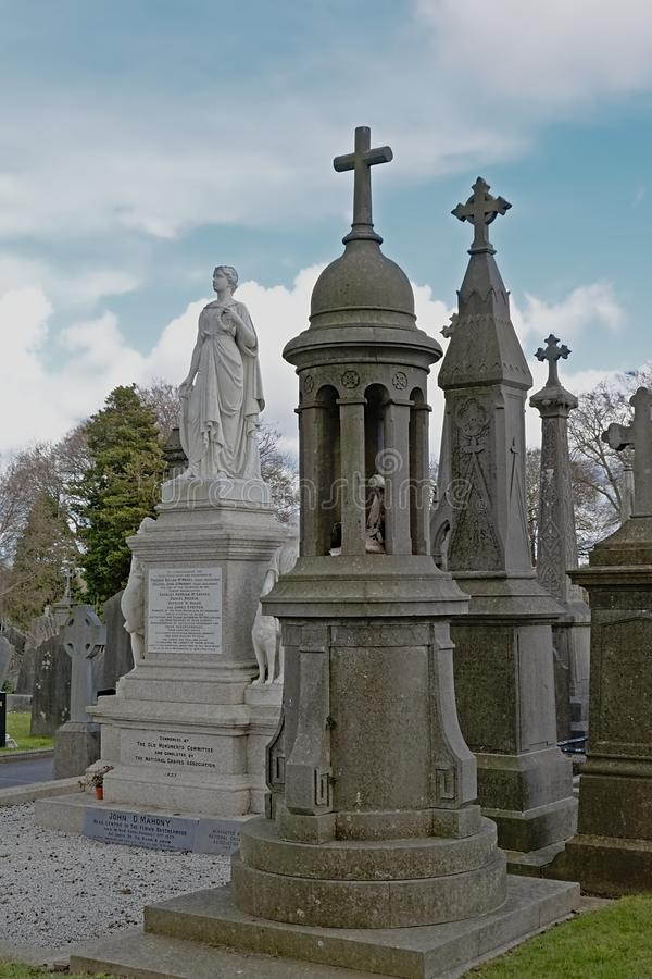 Grave tombs and Monument to the soldiers who died in the battle for Irish independence stock images