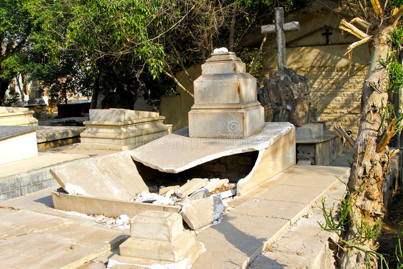 Download Grave vandalism stock photo. Image of coptic, exterior - 15232072