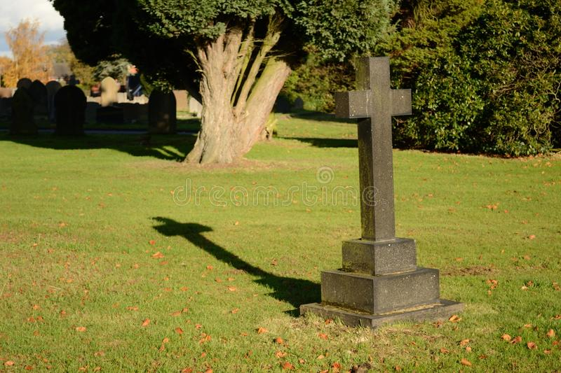 Grave yard. A scene of grave yard on sunny day royalty free stock image