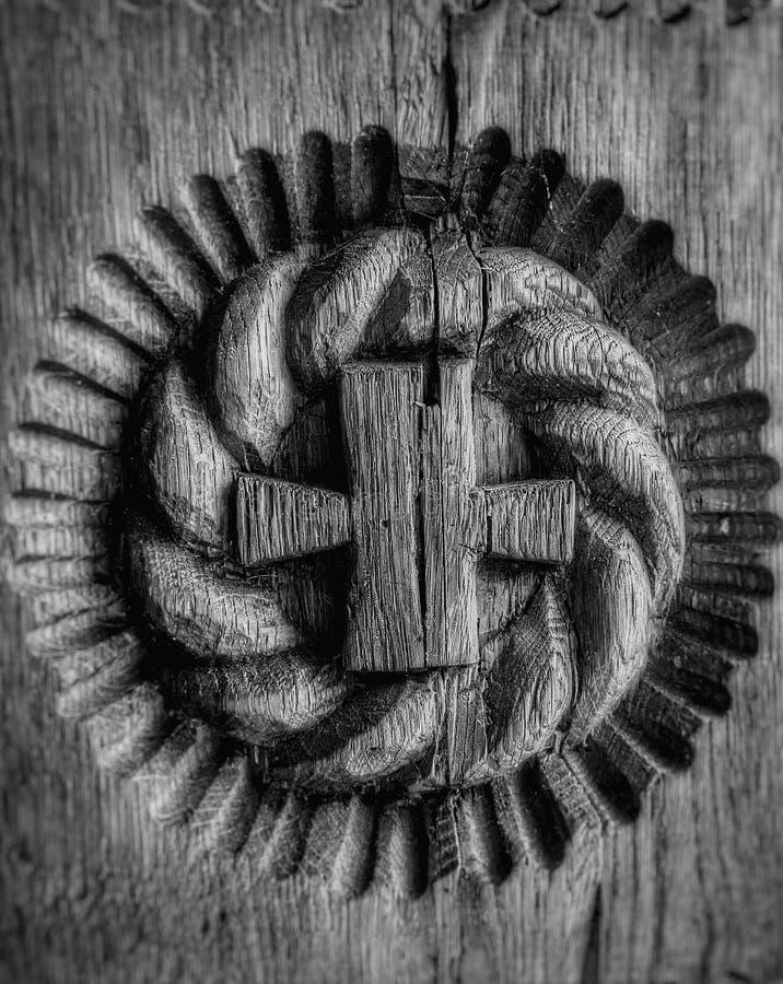 Graved krzyż obraz stock