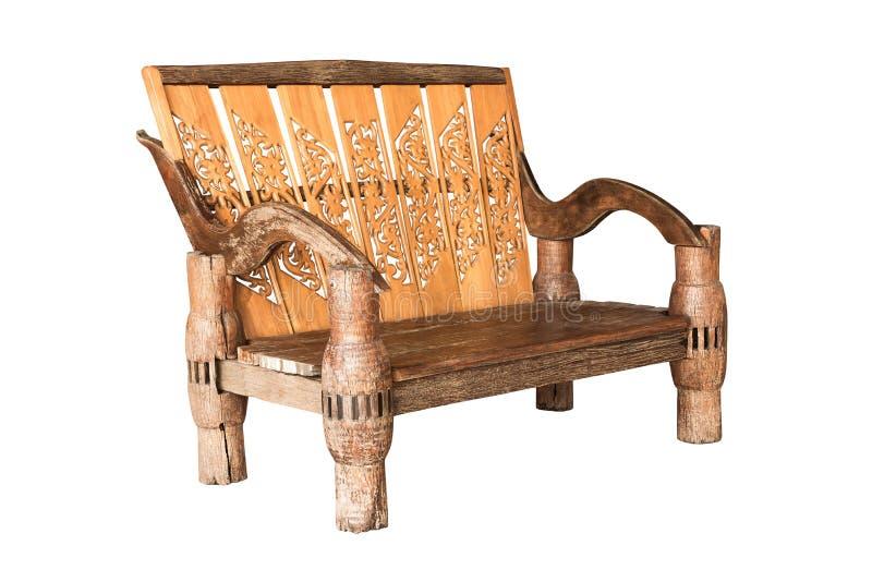 Graveer houten stoel royalty-vrije stock fotografie