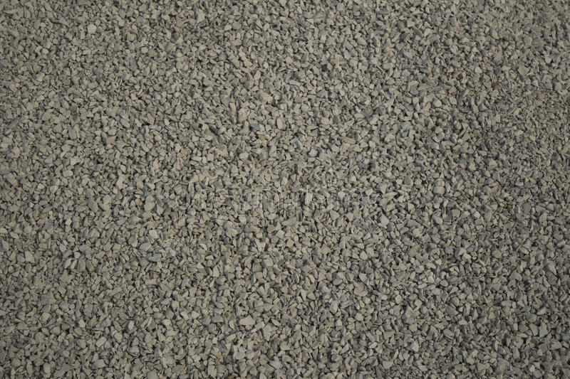 Gravel. Closeup to grey gravel background stock photography