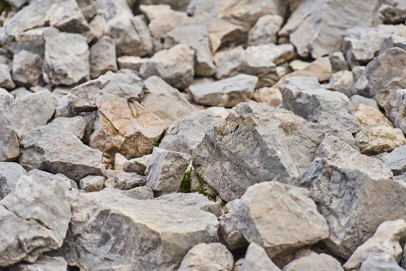 Gravel, coarse gravel and stones, as backgrounds or patterns, close-up stock photography