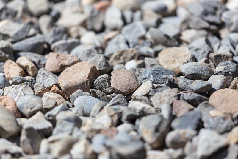 Gravel construction worker as abstract background royalty free stock photography