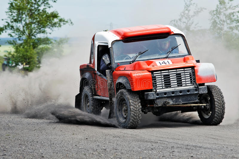 Download Gravel dust cloud editorial photo. Image of competition - 31894426