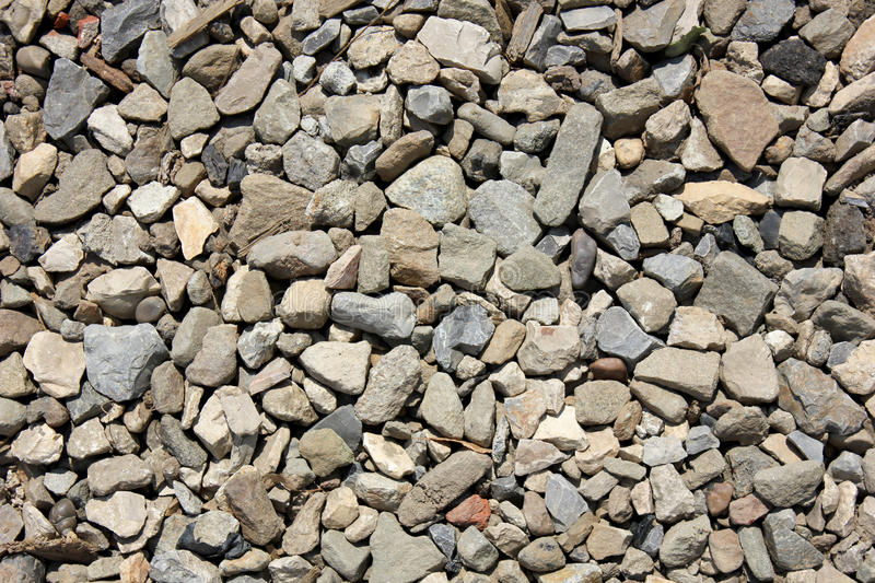 Gravel. Gray gravel for laying of asphalt roads and filling of emptiness royalty free stock photo