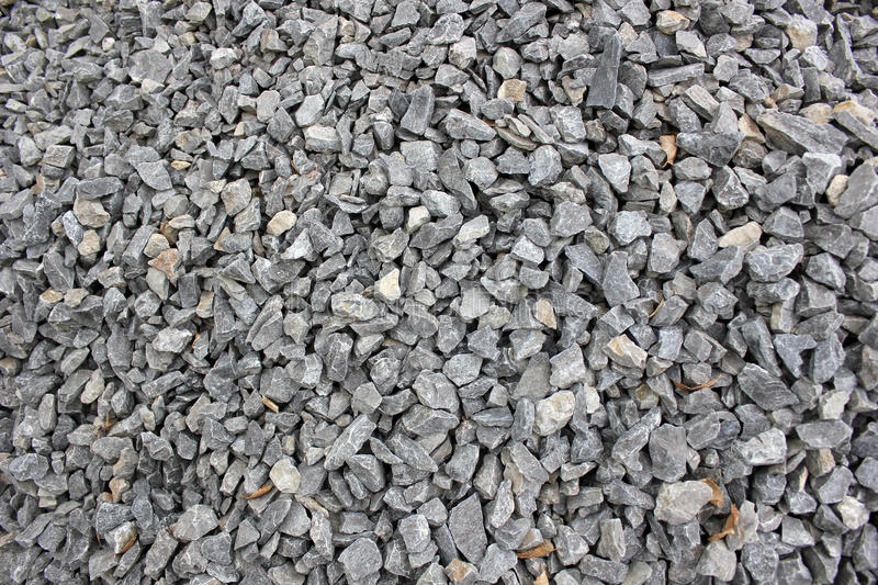 Gravel. Gray gravel for laying of asphalt roads and filling of emptiness stock photos