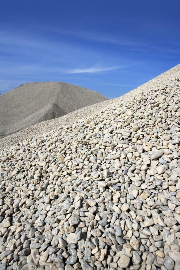 Download Gravel Gray Mound Quarry Stock Blue Sky Stock Image - Image: 13672961