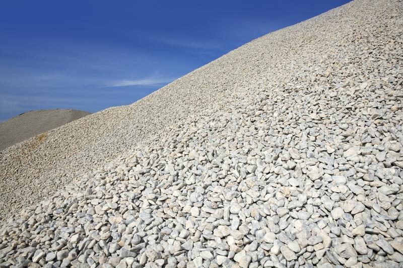 Download Gravel Gray Mound Quarry Stock Blue Sky Stock Image - Image: 14361019