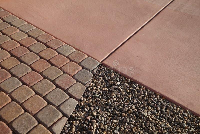 Gravel pavers concrete royalty free stock photo