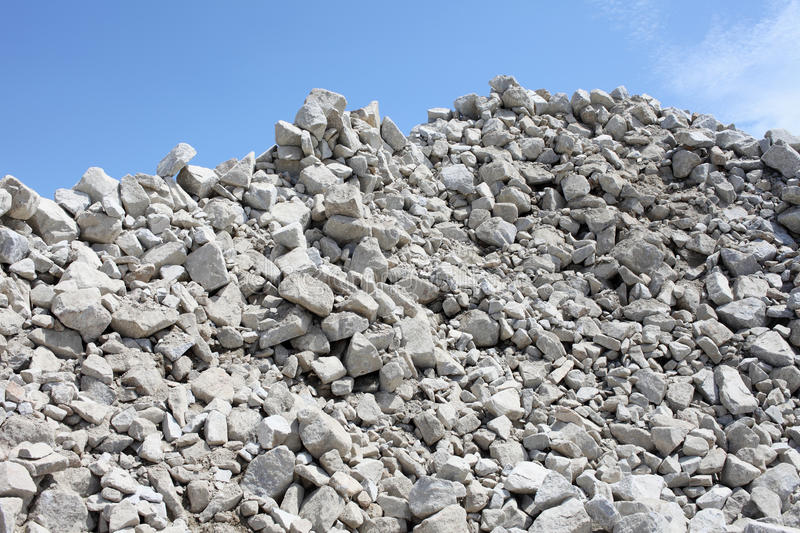 Gravel piles in a quarry royalty free stock images