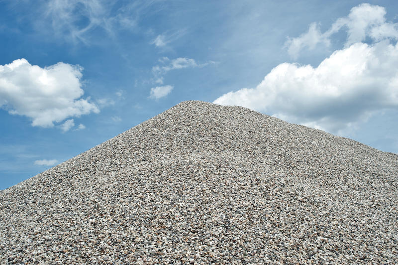 Gravel pit stock image