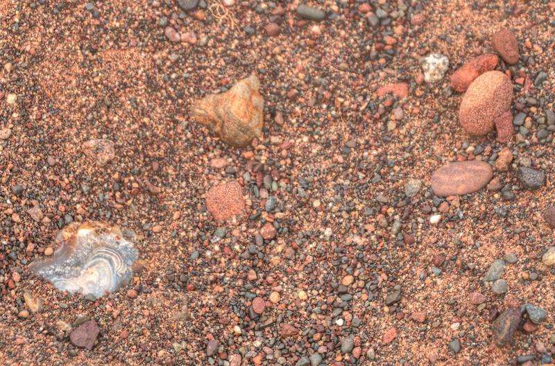 Gravel Pits are a great Place to find Lake Superior Agates.  royalty free stock photo