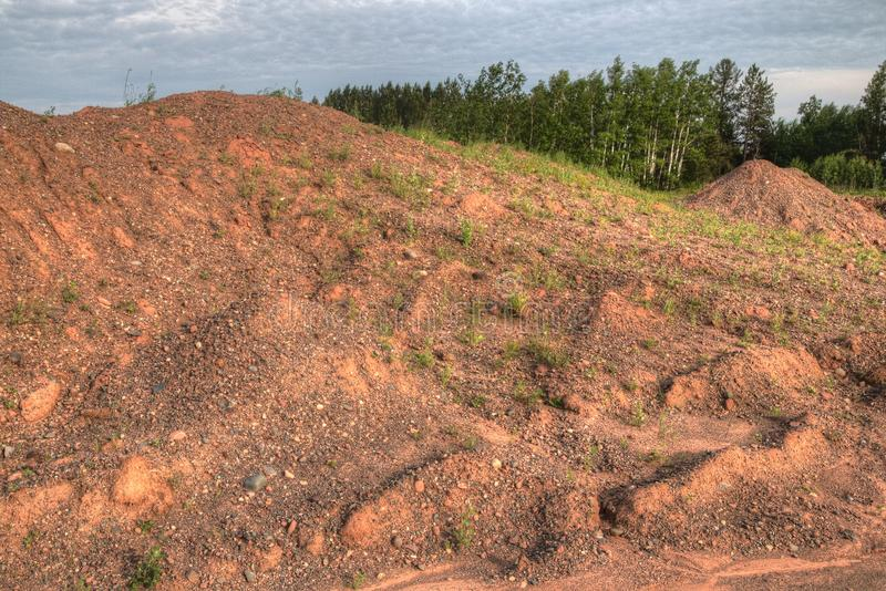 Gravel Pits are a great Place to find Lake Superior Agates.  royalty free stock photography