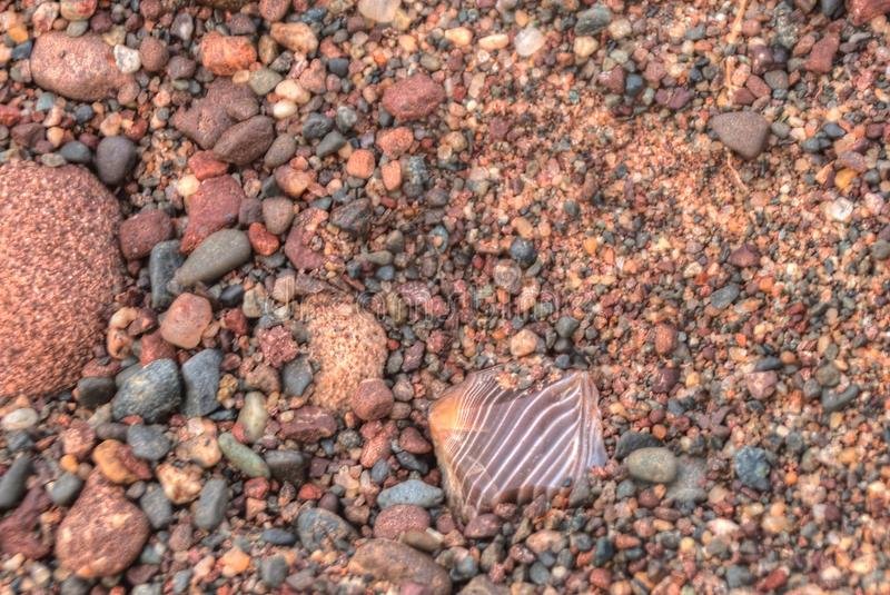 Gravel Pits are a great Place to find Lake Superior Agates.  stock photography