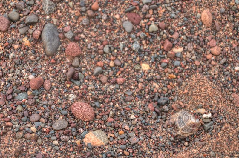 Gravel Pits are a great Place to find Lake Superior Agates.  royalty free stock images