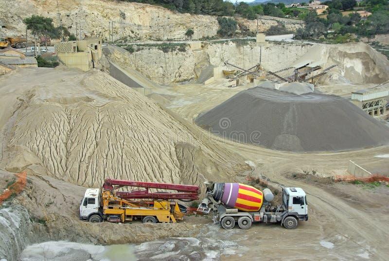 Gravel Quarry stock photography